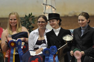 Our VCMHC Youth of the Year Winners for 2012: (L-R) Senior Rebecca Jones, Junior Hailey Garbee, Juniors Kate Zakrajaset and Nancy Merritt at the Southern States Regional Championship Morgan Horse Show