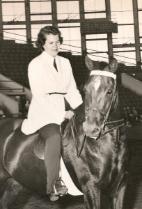 Barbara Cole with her mare, Carolina